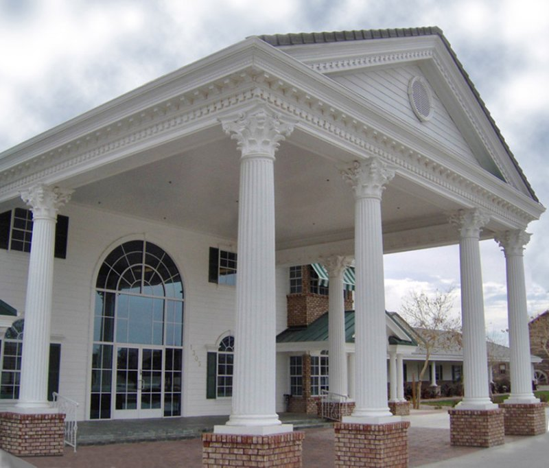 Straight fiberglass columns covers wraps contemporary for Exterior decorative columns