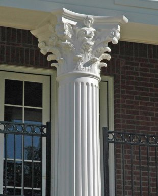 Straight Fiberglass Columns Covers Wraps Contemporary