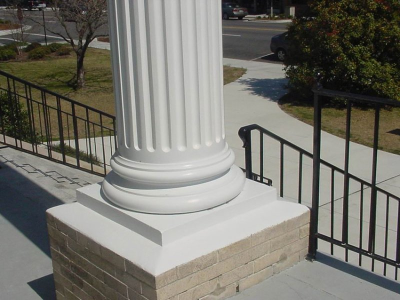 Fiberglass Column Wraps : Straight fiberglass columns covers wraps contemporary