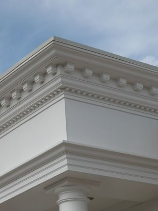 Exterior Fiberglass Cornice Low Cost Polyurethane Mouldings And Polyurethan