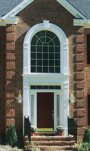 Exterior door pediments pediments and transforming for Exterior door pediment and pilasters