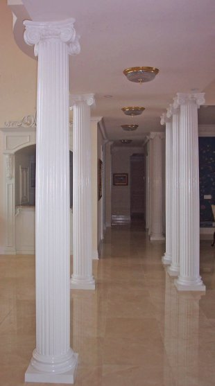 Interior columns image gallery melton classics inc for Exterior decorative columns