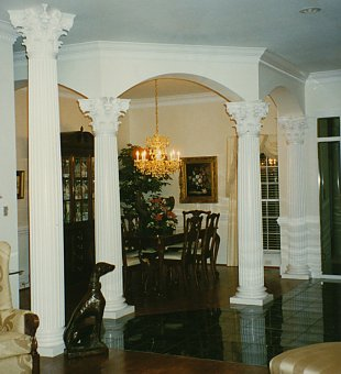 Concrete balustrade porch quotes for Fiberglass interior columns