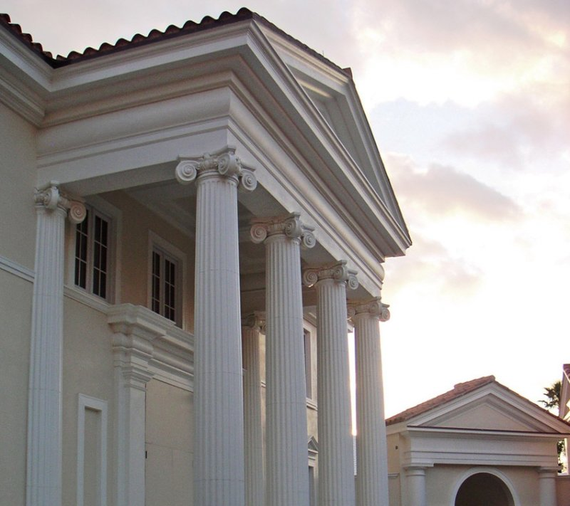 Architectural urethane polyurethane cornices image gallery for Exterior decorative columns