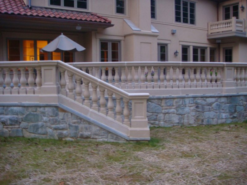 Cast stone balustrade system