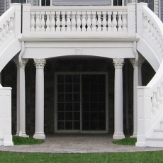11-double-curved-stair-balustrade-corinthian-columns-marbletex