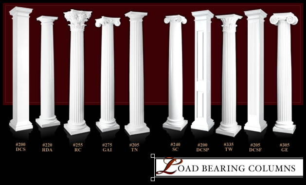 support columns structural columns load bearing