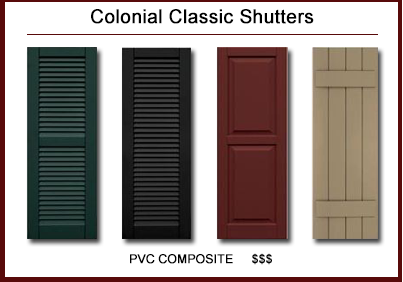 Colonial Classic™ Shutters