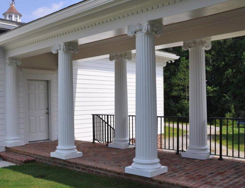 Duraclassic composite fiberglass columns image gallery for Decorative structural columns