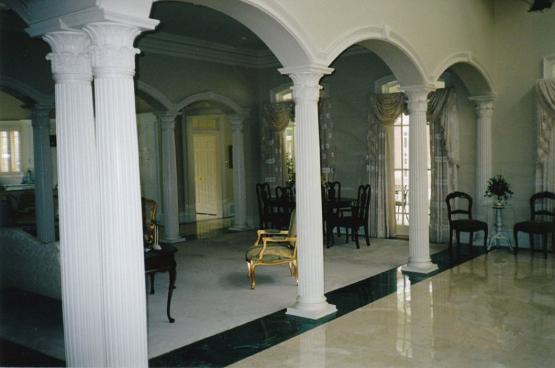 Interior columns image gallery melton classics inc for Interior square columns