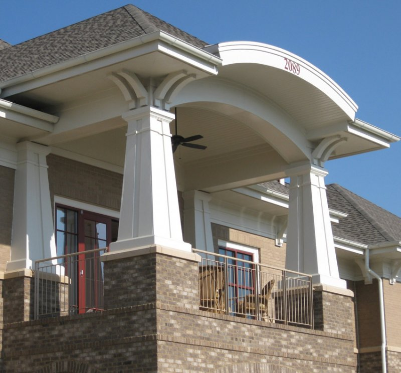 Meltoncraft pvc column covers image gallery for Decorative exterior columns for house