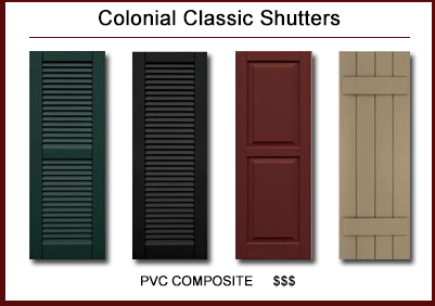exterior shutters. Black Bedroom Furniture Sets. Home Design Ideas