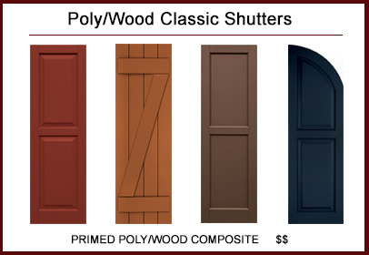 Amazing Poly/Wood Classic™ Shutters