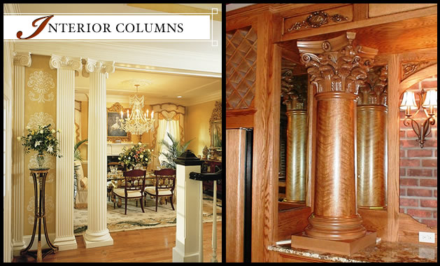 Interior Columns Interior Fiberglass Wood Columns Melton Classics 800 963 3060 Melton Classics Inc