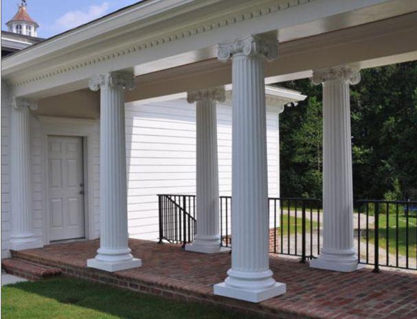 column view of porch column